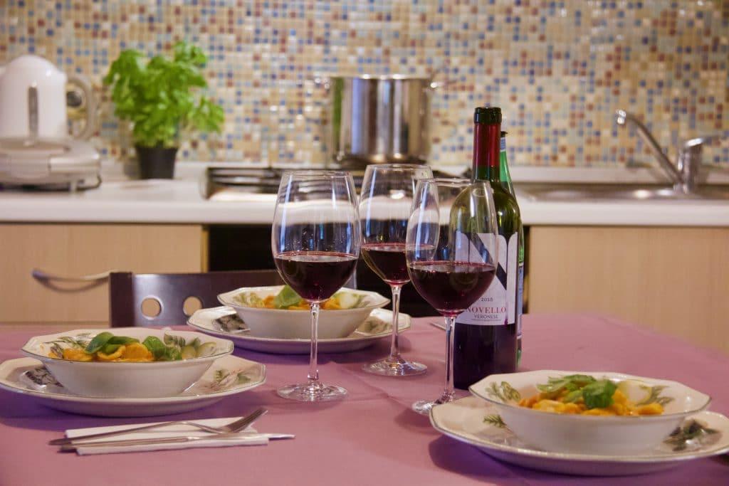 kitchen best accomodation in bassano del grappa
