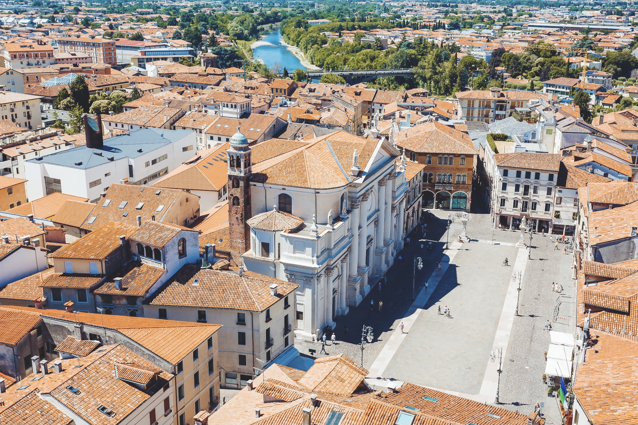 view on square of bassano del grappa Italy what to do