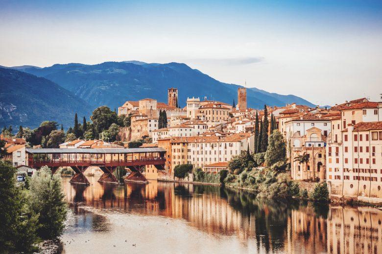Bassano del Grappa Ponte Vecchio in Veneto Region Northern Italy
